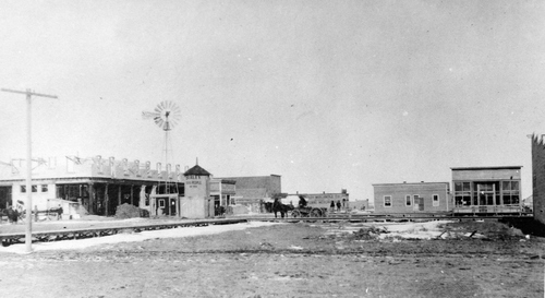 """Salt Lake Tribune archive  Burley, Idaho in 1905. At the time, the town's slogan was: """"Burley--10,000 people in 1910. Irrigation is king!"""""""
