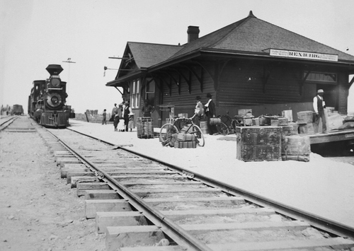 Salt Lake Tribune archive  Railroad station in Rexburg, Idaho.
