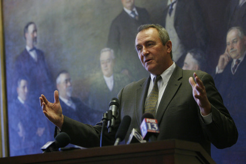 Francisco Kjolseth  |  Tribune file photo Mark Shurtleff, seen in 2012, said Thursday that a DOJ investigation into his actions as attorney general has been dropped, and no charges will be filed.