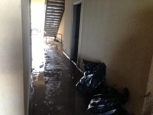 Flooding at the Wilshire Apartment complex in West Jordan on Sept. 14, 2013. Photo courtesy of West Jordan City via Facebook.