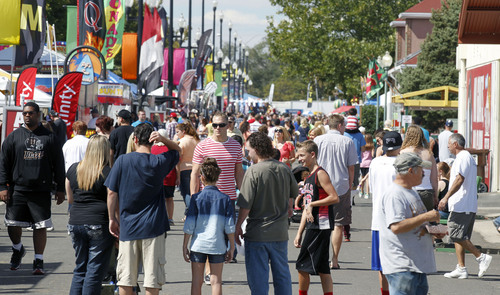 Al Hartmann  |  The Salt Lake Tribune Weather cooperated and the crowds were out Sunday afternoon on the final day of the Utah State Fair.