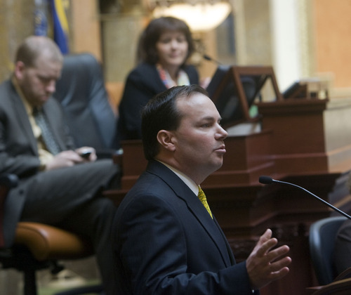 Al Hartmann  |  Tribune file photo Sen. Mike Lee is one of three Republian senators on the Senate Energy and Natural Resources Committee who voted against Interior Department secretary nominee Sally Jewell on Thursday.