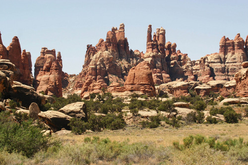 Lisa J. Church | Courtesy The Times-Independent  Canyonlands National Park will soon require backcounty campers to pack out their human waste from Chesler Park, pictured here, and other destinations in the Needles district.