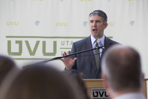 | Courtesy UVU The Utah Legislature approved funding this year for a new Classroom Building at Utah Valley University. Next year, higher education leaders are hoping for money to build a new science building at Weber State University.