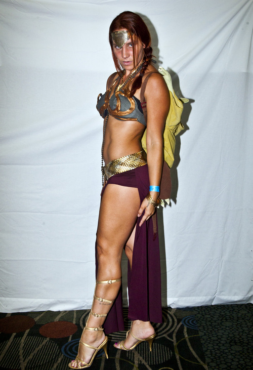 Chris Detrick  |  The Salt Lake Tribune Charly Luna, of Salt Lake City, poses for a portrait as Slave Leia during the inaugural Salt Lake Comic Con at the Salt Palace on Friday, Sept. 6, 2013.  Salt Lake Comic Con founder Dan Farr said he's in the early stages of organizing an event for January 9-11.
