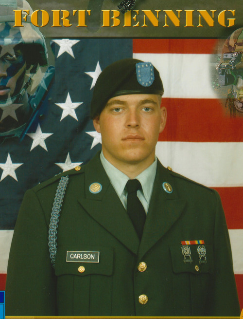 Courtesy Carlson Family James Steven Carlson went into the Army at 19 and served in Iraq during some of the worst of the fighting, in 2005 and 2006. He died in Murray last week; his family does not yet know the cause.