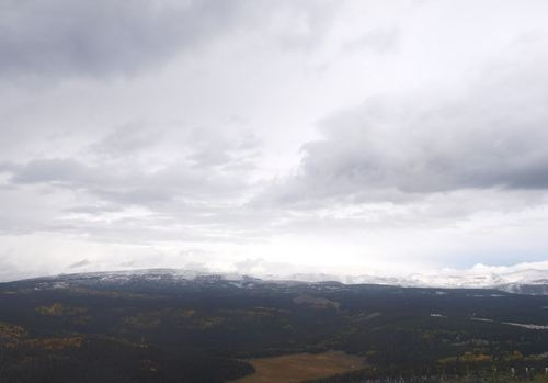 Courtesy National Weather Service  The first snow of the season in the High Uintas, Sunday, Sept. 22, 2013.