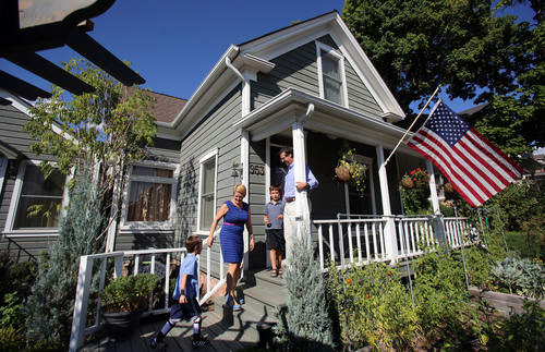 Francisco Kjolseth  |  The Salt Lake Tribune The historic Avenues neighborhood has some real jems due to the efforts of owners that have invested time, money and sweat into their homes such as Jim and Jennifer Levy who live with their two boys Greyson(cq), 7, and Hudson, 5. The couple bought their Avenues home back in 2005 and since then have done extensive remodeling to the home and surrounding yard.