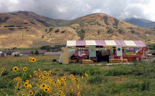 "Keith Johnson | The Salt Lake Tribune  The Cake Farm, a roadside stand along the ""Utah Fruitway"" in Perry, specializes in gourmet cakes and cupcakes."