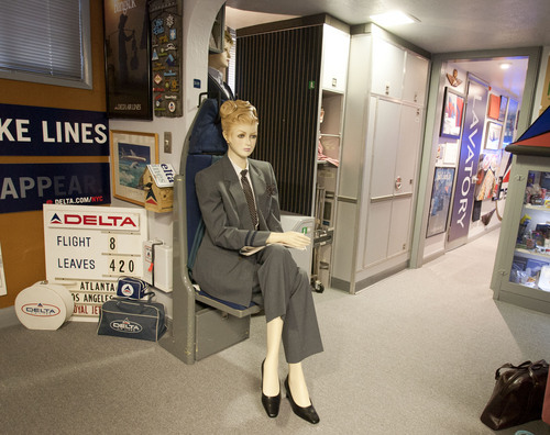 Steve Griffin  |  The Salt Lake Tribune  Longtime Delta Air Lines flight steward, Perry de Vlugt, has turned his seven-room basement in Salt Lake City into a museum of old Delta memorabilia, complete with a lavatory from an old plane.  Friday, Sept. 20, 2013