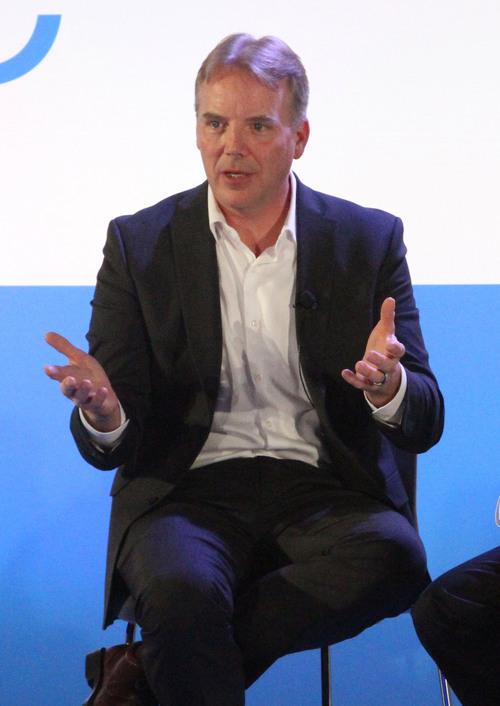 Rick Egan  | The Salt Lake Tribune   Dean Nelson, vice president of Global Foundation Services for eBay Inc.,  speaks at the opening of the new phase of the eBay data center in South Jordan, Thursday, September 26, 2013.