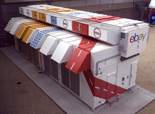 Rick Egan  | The Salt Lake Tribune   The Dell EPIC, data center is the world's densest modular data center, and the HP EcoPOD is the world's largest modular data center (right) at the new phase of the eBay data center in South Jordan, Thursday, September 26, 2013.