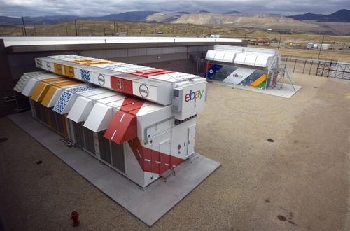 Rick Egan  | The Salt Lake Tribune   The Dell EPIC,  (left) is the world's densest modular data center, and the HP EcoPOD is the world's largest modular data center (right) at the new phase of the eBay data center in South Jordan, Thursday, September 26, 2013.