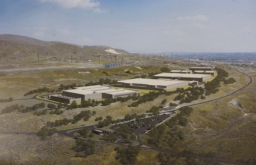 Artist's rendition of the National Security Agency's Utah Data Center at Camp Williams, Thursday, January 6, 2011. The cybersecurity facility is expected be completed and open October 2013.