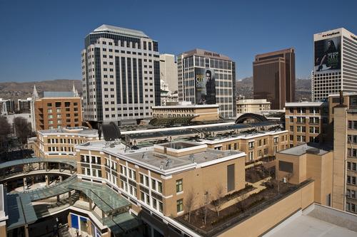 Chris Detrick  |  The Salt Lake Tribune An overview of City Creek Center photographed Saturday March 10, 2012.