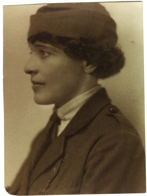 Courtesy of Anne Quigley Maud Fitch of Eureka, Utah, drove an ambulance on the French front line in France during World War I. She returned to Eureka after the war, and later lived in Europe, California and elsewhere.
