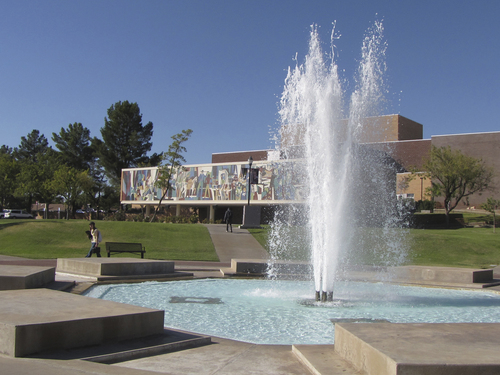 File photo  |  The Salt Lake Tribune          Dixie State University, seen near the Garff Performing Arts Building, is dealing with new diverse voices since its transition from a college.