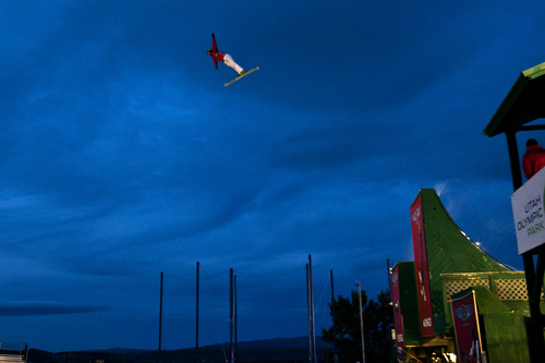 Chris Detrick  |  The Salt Lake Tribune Members of the Flying Ace Allstars perform during the Team USA Media Summit Opening Reception at the Utah Olympic Park Museum Sunday September 29, 2013. The athletes are Kiley McKinnon, McRae Williams, Scotty Bahrke, Jillian Vogtli, Mike Rossi, Dylan Ferguson, Allison Lee and Jon Lillis.