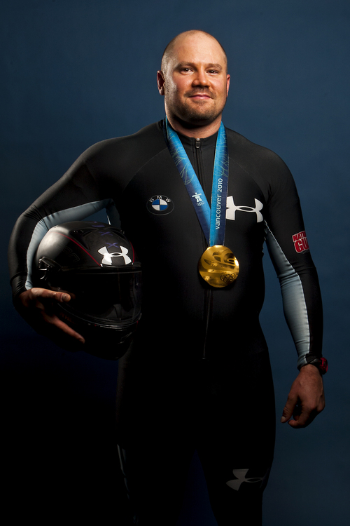 Chris Detrick  |  The Salt Lake Tribune Steven Holcomb poses for a portrait during the Team USA Media Summit at the Canyons Grand Summit Hotel Monday September 30, 2013.