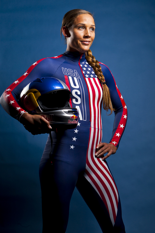 Chris Detrick  |  The Salt Lake Tribune Lolo Jones poses for a portrait during the Team USA Media Summit at the Canyons Grand Summit Hotel Monday September 30, 2013.