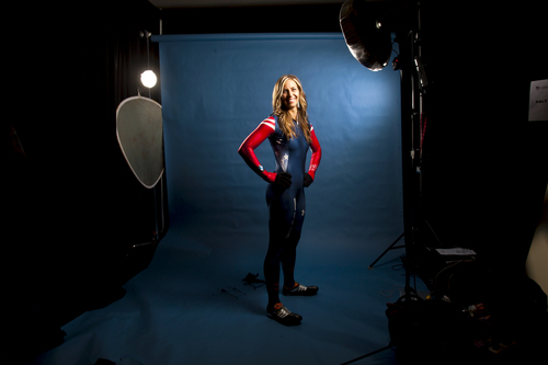 Chris Detrick  |  The Salt Lake Tribune Noelle Pikus-Pace poses for a portrait during the Team USA Media Summit at the Canyons Grand Summit Hotel Monday September 30, 2013.
