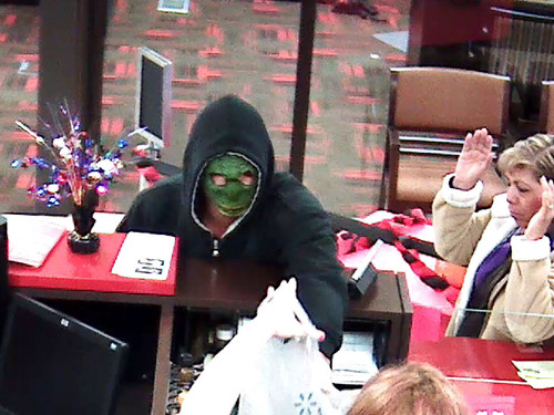 | Courtesy Unified Police Dept A masked man robbed a Key Bank at 1939 W. 4700 S. Friday morning.