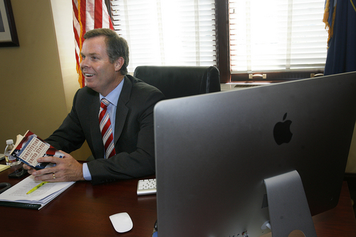 Scott Sommerdorf      The Salt Lake Tribune Utah Attorney General John Swallow in his office on the day it was announced the U.S. Department of Justice will not prosecute him, Thursday, September 12, 2013.