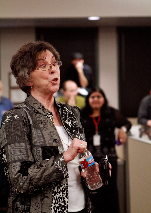 Thomas Nelson   The Salt Lake Tribune  Nancy Conway, editor-in-chief of the Salt Lake Tribune,  answers questions from employees about the MediaNews Group's newly announced restructuring. Affiliated Media, Inc., the holding company for MediaNews Group, filed Chapter 11 bankruptcy on January 15, 2009.