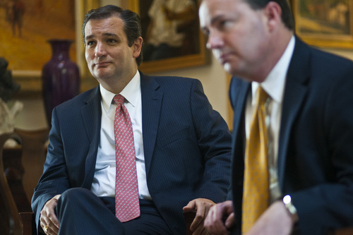 Chris Detrick  |  Tribune file photo Sens. Ted Cruz, R-Texas, and Mike Lee, R-Utah, are pushing a new plan for solving the budget crisis -- by approving budgets agency by agency.