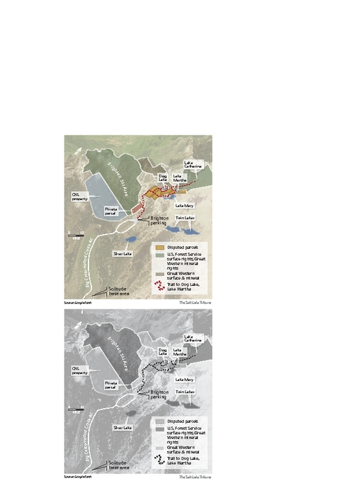 Dispute resolved Salt Lake City has clear title to the land and mineral rights beneath Martha Lake and three nearby parcels in upper Big Cottonwood Canyon following the settlement of a lawsuit with Great Western Mining Co., which has sizable holdings in the central Wasatch Mountains.