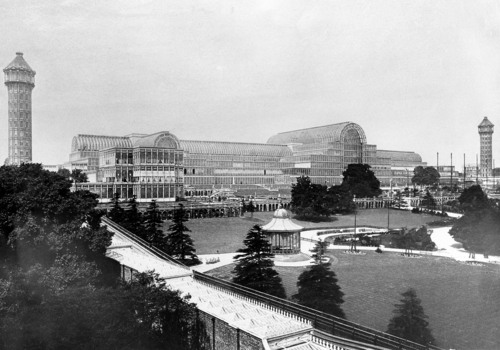 FILE-   This is an undated file photo showing the Crystal Palace built for the Great Exhibition of 1851 in London, England. Britain's Crystal Palace, the Victorian exhibition center that was once the largest glass structure in the world, will be brought back to life with investment from Chinese developers. Shanghai-based Zhongrong Group plans to invest 500 million pounds (US$ ) to build a replica of the iron and glass building as a cultural attraction in south London. The Crystal Palace, designed by Joseph Paxton for the 1851 Great Exhibition in Hyde Park, was the world's biggest glass structure before it was destroyed by fire in 1936. The plans, announced Thursday, Oct. 3, 2013 will replicate the building's Victorian design in the original size and scale. (AP Photo/File)