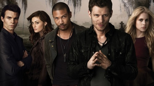 The Originals -- Image: OR01_KEYGroup1 -- Pictured (L-R): Daniel Gillies as Elijah, Phoebe Tonkin as Hayley, Charles Michael Davis as Marcel, Joseph Morgan as Klaus, and Claire Holt as Rebekah -- Photo: Mathieu Young/The CW -- © 2013 The CW Network, LLC. All rights reserved.