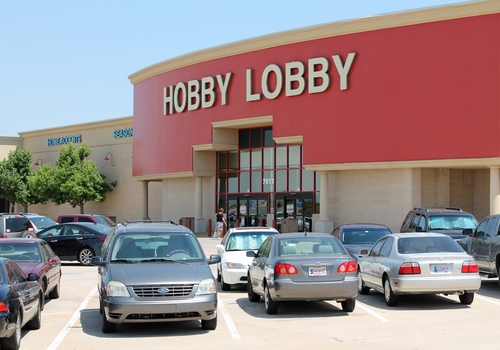 In this June 27, 2013, photo is the Hobby Lobby store Oklahoma City, Okla.   (AP Photo/Andre' P. Kissel)