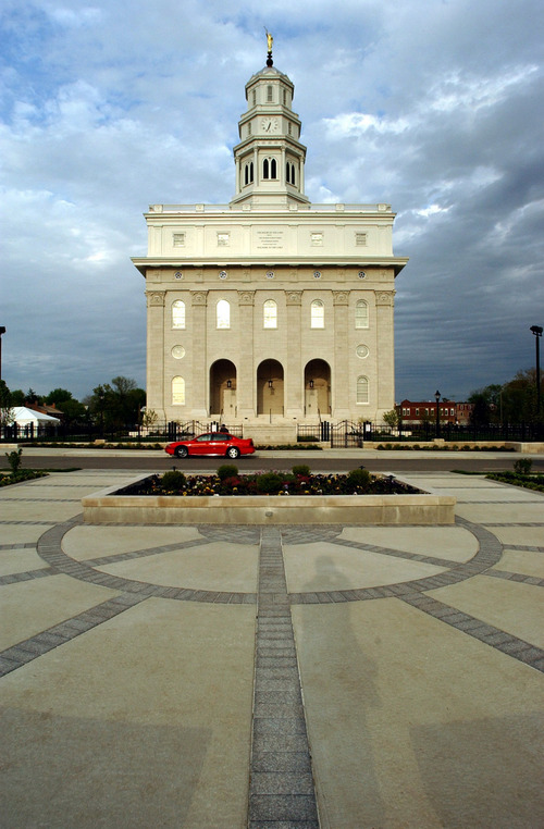 The Nauvoo Temple open house begins this weekend. Photo By Rick Egan  4-30-2002