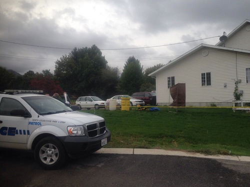 North Park Police officers cordoned off this home after a woman apparently tried to commit suicide with ricin. Courtesy KUTV