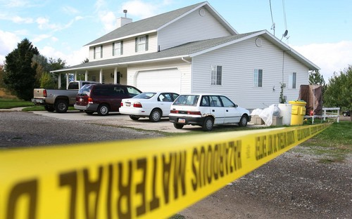 Leah Hogsten  |  The Salt Lake Tribune A suicidal woman and a family living in an upstairs apartment were rushed to a hospital overnight in North Logan after reportedly being exposed to potentially deadly ricin fumes.