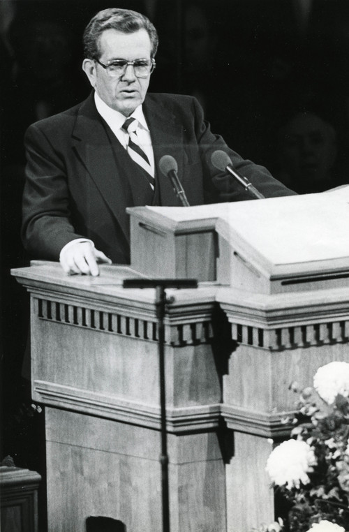 LDS apostle Boyd K Packer in 1982. Tribune file photo.