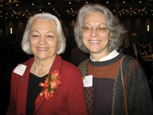 philantrophy day 2 magid 11/1/07 Norma Matheson, left, and Barbara Pioli at Utah Philantrophy Day awards ceremony.  magid photo