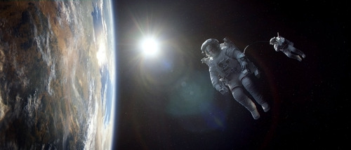 "This film image released by Warner Bros. Pictures shows a scene from ""Gravity."" (AP Photo/Warner Bros. Pictures)"