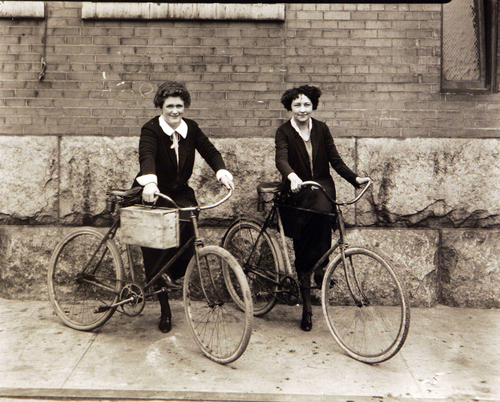 Women with their bicycles at Utah Power and Light, May 28, 1924.  Courtesy of Utah Historical Society