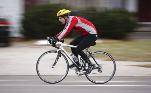 Trent Nelson     The Salt Lake Tribune Salt Lake City is counting the number of bicyclists on the streets and found a 27 percent increase from 2010 to 2011. The location with the most bicycle traffic is the intersection of Sunnyside and Arapeen in Salt Lake City.
