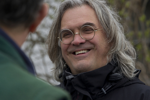 """Director Paul Greengrass on the set of the drama """"Captain Phillips."""" Hopper Stone 