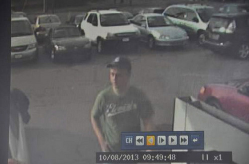 Courtesy Logan Police Department Logan police need the public's help identifying a male who allegedly stole a large sum of cash from a car dealership at 95 W. 400 North on Tuesday morning.