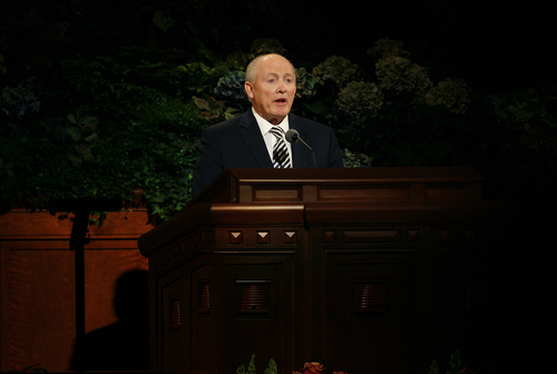 Scott Sommerdorf   |  The Salt Lake Tribune Elder Richard J. Maynes spoke during the morning session of the 183rd LDS General Conference, Sunday, October 6, 2013.