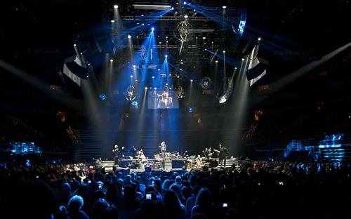 Lennie Mahler     The Salt Lake Tribune Josh Groban performs in concert at EnergySolutions Arena on Friday, Oct. 11, 2013.