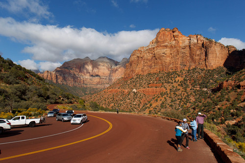 Trent Nelson  |   Tribune file hoto Visitors to Zion National Park take in the sights in October. 2013.
