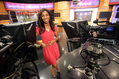 Francisco Kjolseth  |  The Salt Lake Tribune KTVX Channel 4 anchorwoman Nadia Crow, 27, who grew up in Chicago and is the first regular African-American anchorwoman at a Salt Lake TV station, talks about her career that has spanned the states of Indiana and Iowa and now Utah.