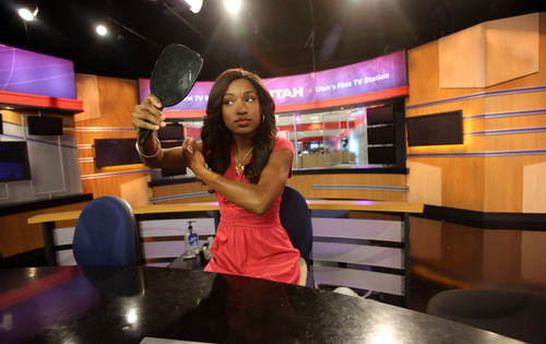 Francisco Kjolseth  |  The Salt Lake Tribune KTVX Channel 4 anchorwoman Nadia Crow, 27, who grew up in Chicago and is the first African-American anchorwoman at a Salt Lake TV station, talks about her career that has spanned the states of Indiana and Iowa and now Utah.
