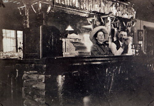 Photo Courtesy of the Utah Historical Society   Salt Palace Bar with John F. Heath