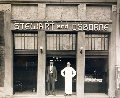 Photo Courtesy Utah Historical Society  Stewart and Osborne Saloon at 13 E. 200 South in Salt Lake City, 1909.